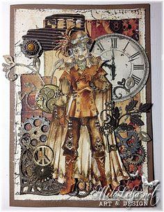 "Created by MiloLilja - Sweden • Instagram: milolilja • Pinterest: milolilja • Facebook: ""Milo Lilja - Art & Design"" • #scrapbooking #crafting #art #milolilja #cardmaking #paperart #shabbychic #artist #vintage #handmade #steampunk #rickstdennis"