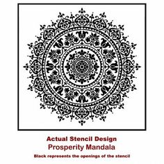 Our Prosperity Mandala Stencil is perfect for DIY decor. Reusable stencil made in USA, can be painted on walls and ceilings. Our large mandala stencils can be custom painted to match your decor. Mandala Stencils, Stencil Patterns, Stencil Designs, Tile Stencils, Stenciling, Wooden Wall Art, Wooden Walls, Expensive Wallpaper, End Table Makeover