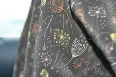 Winner of the Spoonflower Staff edition of our Fabric of the Week contest (shown here on silk crepe de Chine)  Queeny brass by Danielle Hazen  www.spoonflower.com/fabric/462926