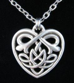 Celtic Heart Knot Pendant  Hey it's mine and my besties tattoo!!