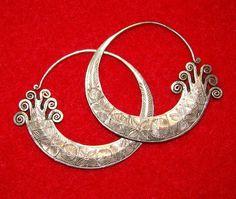 Hmong earrings from Laos.