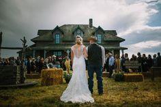 Western movie wedding Alberta weddings picture ideas ceremony dad father Calgary photographers Longview Photographer