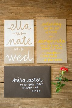 wedding invitation inspiration | invite ideas | v/ style me pretty |