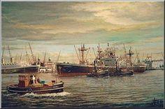 Werk van Henk v.d..Veer. s Laurendskerk van de V.N.S.