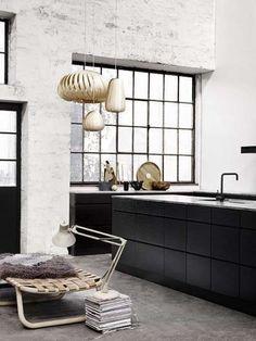 Modern, industriële keuken.