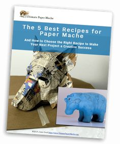 Find all the paper mache recipes you need on this page. Traditional paste, paper mache clay, and air dry clay, plus popular gluten-free alternatives. Paper Mache Paste, Paper Mache Clay, Paper Mache Sculpture, Paper Mache Projects, Paper Mache Crafts, Small Sculptures, Animal Sculptures, Making Paper Mache, Paper Mache Animals