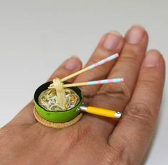 Kawaii Japanese Miniature Food Floating Ring  by fingerfooddelight, $12.00