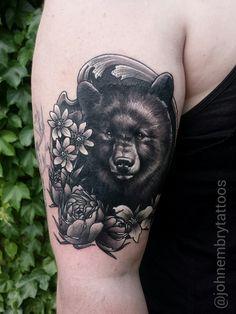 Illustrative black bear // John Embry. BroadWing Tattoo. Bowling Green OH