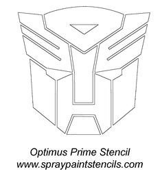 Transformers Stencil and is great to use for Rescue Bots too.