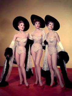 Mitzi Gaynor, Kay Kendall, and Taina Elg in a publicity shot for Les Girls (George Cukor, 1957) via 20th-century-man