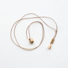 acorn and silk cord necklace - the vamoose