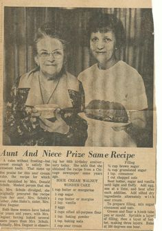 Vintage Prize Winning Recipes