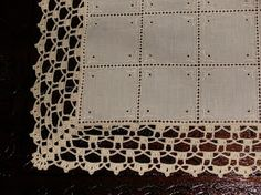 I've been missing, I finally managed to do a job to show you … - Hakeln Crochet Boarders, Crochet Edging Patterns, Smocking Patterns, Crochet Motifs, Thread Crochet, Lace Knitting, Crochet Doilies, Knitting Patterns Free, Crochet Lace