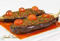 Vinete umplute – reteta video Romanian Food, 30 Minute Meals, Meatloaf, Ratatouille, Eggplant, Food Videos, Food To Make, Steak, Cooking