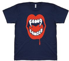 FANG BANGERS $29 trippstshirts.com #fangs #fangbangers #twilights #vampires #werewolves #tshirts #tshirtsrestinpeoplespersonalitees