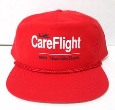 cfff51f62490b vtg MIAMI VALLEY HOSPITAL CARE FLIGHT HELICOPTER SNAPBACK Dayton Ohio Men  Women  RCC  BaseballCap. C R · Vintage Hats and Clothes