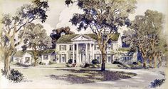 Original 1939 architecturial plans for Graceland. The architect, Max Furbringer also designed the Overton Park Shell and the Mid-South Coliseum. (c) EPE