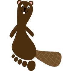 The big footprint ABC – crafts with footprint Basteln mit Fußabdruck Biber - Disney Crafts Ideas Abc Crafts, Animal Crafts, Diy And Crafts, First Fathers Day Gifts, Pond Life, Baby Growth, Woodland Party, Disney Crafts, Kids Learning