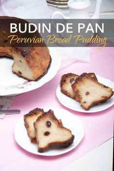 This sweet dessert treat is very popular in Peru and South America. It's an easy-to-make dish that uses old bread, milk, sugar and fruit to make magic. #PeruvianFood #BudinDePan #BreadPudding #LatinRecipes #DessertRecipes #PeruDesserts Peruvian Desserts, Peruvian Cuisine, Peruvian Recipes, Sweet Desserts, Easy Desserts, Dessert Recipes, Peasant Food, Latin Food, Breads