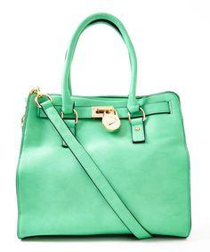 Look at this #zulilyfind! Green Plora Shoulder Bag #zulilyfinds