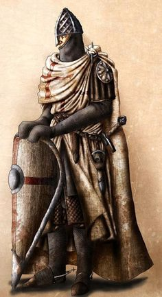 'Non Nobis Domine'.and all that jazz. The finished redraw of my Knight of the Temple. Knight of the Temple Armadura Medieval, Knights Hospitaller, Knights Templar, Knight In Shining Armor, Knight Armor, Medieval Knight, Medieval Fantasy, Crusader Knight, High Middle Ages