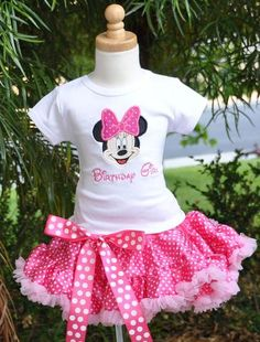 Minnie mouse birthday theme | Girls Birthday Minnie Mouse Number Light Pink & Hot Pink Pettiskirt ...