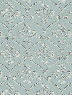 Cranford, a feature wallpaper from Little Greene, featured in the London Wallpapers collection.