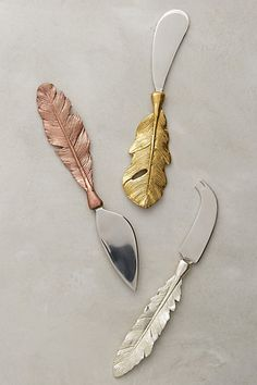 feather cheese knives! So cute and a perfect hostess gift #anthrofave