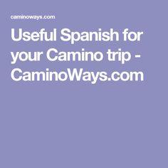 Useful Spanish for your Camino trip - CaminoWays.com