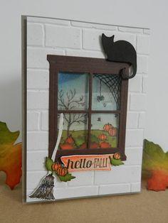 Stamp-ing: Bundel: Brick Wall embossingfolder,  'Hearth & Home' Thinlits en 'Happy Scenes' www.stamp-ing.blogspot.nl