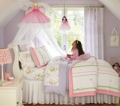 This is Audrey's room! In our next house, paint her walls light purple just like this.