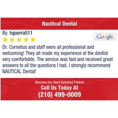 Dr. Cornelius and staff were all professional and welcoming! They all made my experience...