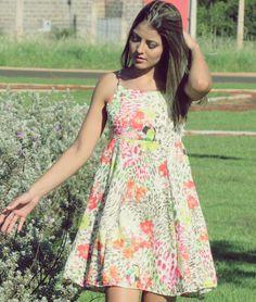 Tallita Martins - Look do dia | Vestido estampado romântico!