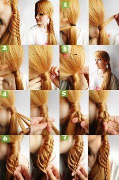 How to DIY Chic Side Braid Ponytail | www.FabArtDIY.com LIKE Us on Facebook ==> https://www.facebook.com/FabArtDIY