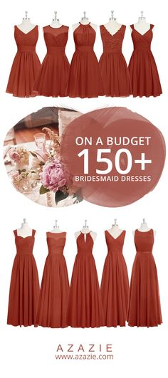 Still searching for some Fall wedding color inspiration? Go ahead and dress up your bridesmaids in RUST this Fall season!