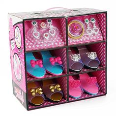 Princess Dress Up and Play Shoe and Jewelry Boutique (Includes 4 Pairs of Shoes   Fashion Accessories) * This is an Amazon Affiliate link. Be sure to check out this awesome product.