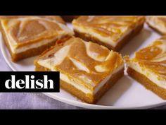Best Pumpkin Spice Blondies with Cheesecake Swirl Recipe - Delish.com