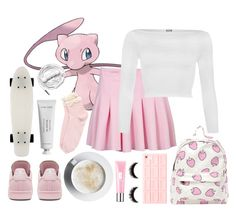 """""""I wanna be the very best 🎀"""" by anythingbutjustx ❤ liked on Polyvore featuring Mew., WearAll, adidas, Urbanears, Topshop, Clinique and Byredo"""