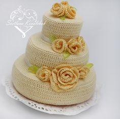 """Торт """"Желтые розы"""" - http://www.livemaster.ru/item/9313051-kukly-igrushki-tort-zheltye-rozy"""