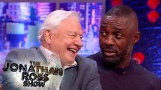 Sir David Attenborough Terrifies Idris Elba With 'Land Octopus' The Jonathan Ross Show, David Attenborough, Idris Elba, Einstein, Jokes, Entertaining, Octopus, Youtube, Husky Jokes