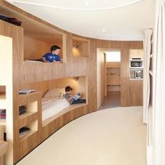 Modern Kids Bunk Beds in a Cabin