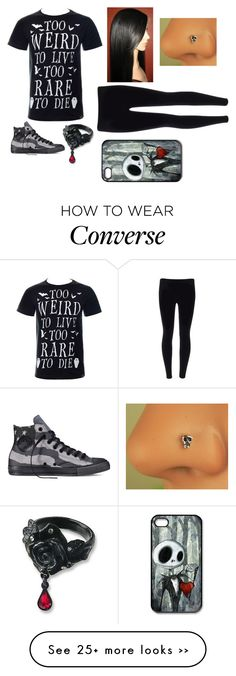 """Untitled #341"" by ade-skulls on Polyvore featuring Converse and Disney"