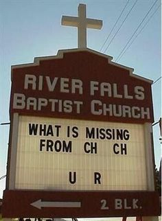 Cartel de iglesia