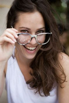 Anna with glasses via http://www.garancedore.fr/en/2009/06/30/heart-of-glass/