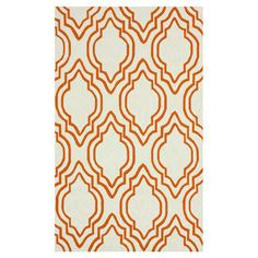 Hand-hooked wool rug.  Product: RugConstruction Material: WoolColor: OrangeFeatures:...