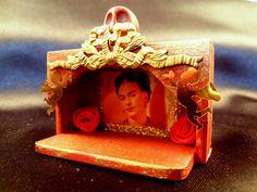 Frida Kahlo Wood Matchbox Shrine by BuddhaStash on Etsy