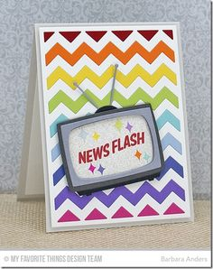 Chevron Cover-Up Die-namics, Television Die-namics, Stay Tuned - Barbara Anders  #mftstamps