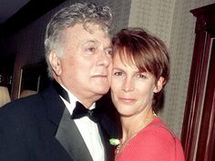 Tony Curtis with  his daughter (Jamie Lee Curtis).