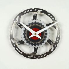 bicycle wall clock bike clock unique clock cyclist gift gift for boyfriend