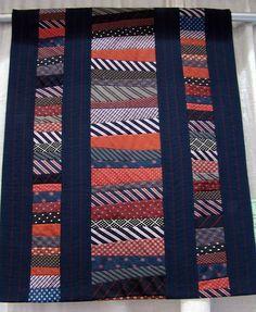DSC07034 Ties That Bind - Giny Dixon by godutchbaby, via Flickr    Quilt made of men's silk ties